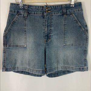 "NorthCrest Jean Shorts (11"" Rise) Size 12"